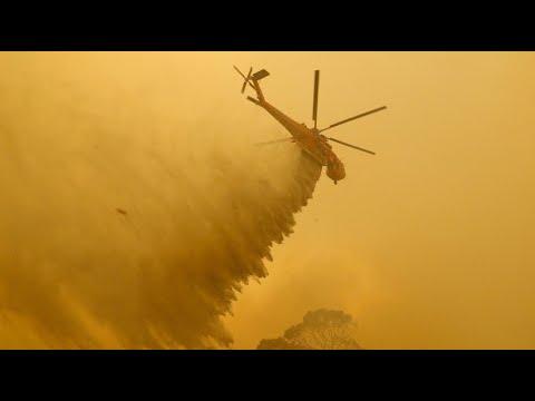 Kampf gegen Buschbrände nahe Australiens Hauptstadt Canberra