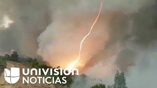 El impactante tornado de fuego que surgió en los incendios en Portugal