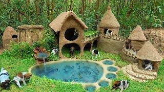 Building Walk way On Wall For Abandoned Dog And Foot Fish Pond For Cat fish