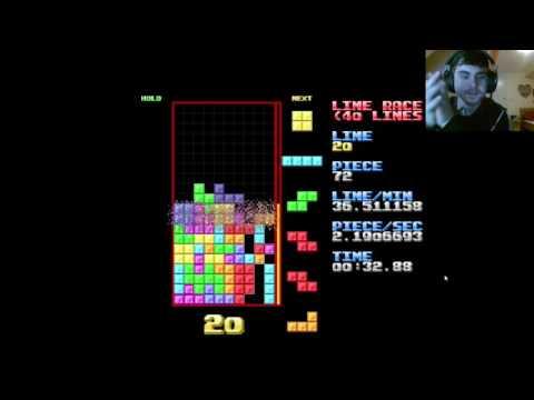 Tetris Speedrun 40 lines in 48.15 seconds