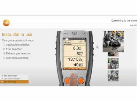 Testo Emission Monitoring Analyser - the testo 350