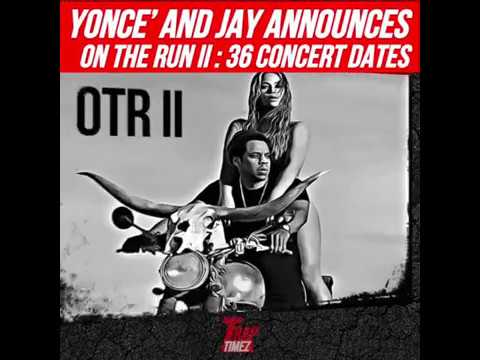 On The Run Tour 2 Jay z and Beyonce - 36 City Tour