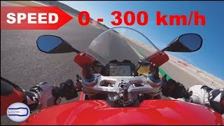 4. 2018 Ducati PANIGALE V4 / Acceleration 0 - 300 km/h Test Ride Top Speed