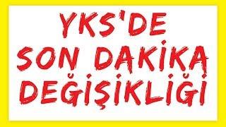YKS DE SON DAKİKA DEĞİŞİKLİĞİ - FEN SOSYAL EKLENDİ - ŞENOL HOCA