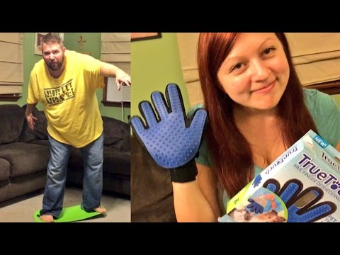 SHE RIPS OUT HIS BACK HAIR WITH A DOG BRUSH PRANK GONE WRONG! FAT PEOPLE SLIM FIT BOARD FAIL!