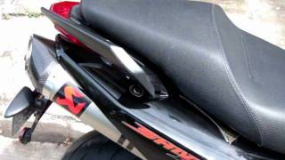 4. Aprilia Shiver 750 2011 Akrapovic Slip On Exhaust