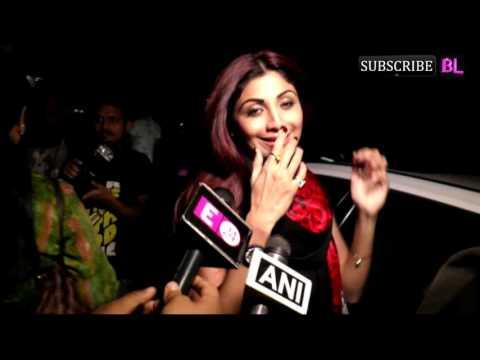 Shilpa Shetty With Family Watch Movie