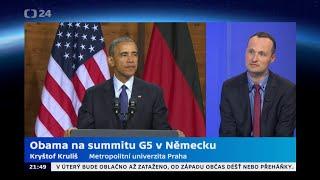 Obama na summitu G5 v Německu