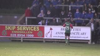 Jordan Stewart's goal - Ballinamallard Vs. Glentoran (23/11/13)