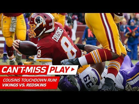 Video: D.J. Swearinger Jumps the Route on INT & Kirk Cousins' Strong TD Run!   Can't-Miss Play   NFL Wk 10