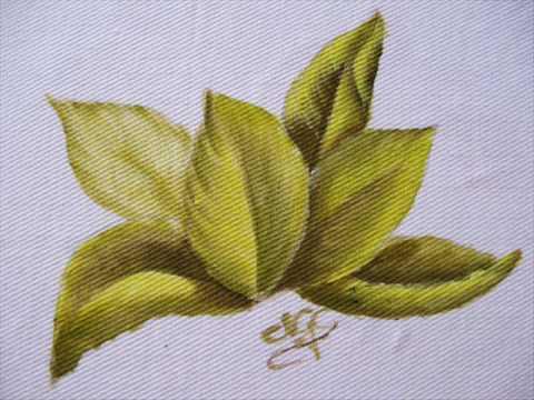 Pintura em tecido: como pintar folhas passo a passo