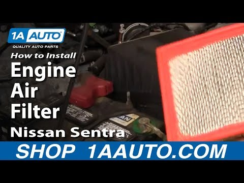 How To Install Replace Engine Air Filter Nissan Sentra 02-06 1AAuto.com
