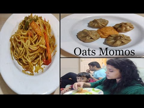 My New Hairstyle **Friday Winter Dinner Routine  OATS MOMOS  CHOWMEIN