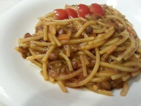Videoricetta pasta e lenticchie sugo di lenticchie