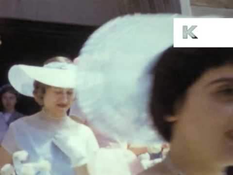 1950s USA Wedding Color Home Movies, Bride And Groom