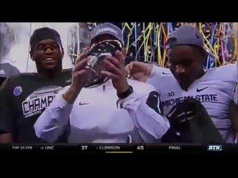 Michigan State Football Playoff Hype 2015-16