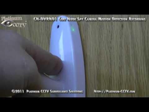 CH-DVRHD1 - Motion Detection Recording - Coat Hook Spy Camera