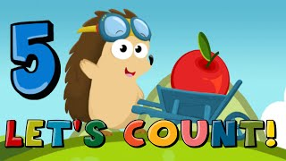 Number Counting Apples Kids Learn To Count With Hedgehog Education Cartoon Children Animation