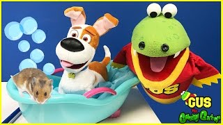 Gus Takes Care of Pets Pretend Play Toys for Kids Compilation! Funny Video for Children