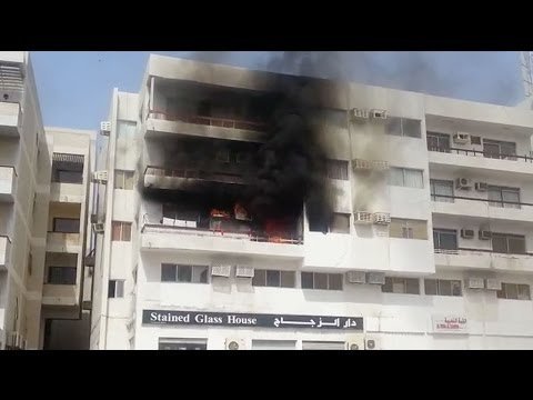 Watch: Residential building in Oman catches fire
