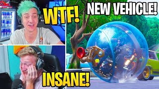 Streamers First Time Using the *NEW* Baller Vehicle & *NEW* Healing Animations! - Fortnite Moments