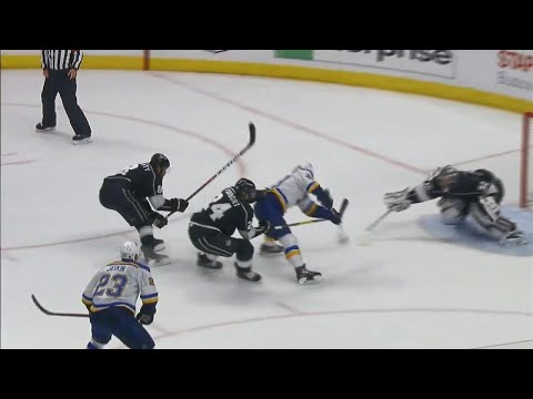 Video: Blues score seven goals with seven different players vs. Kings