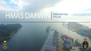 HMAS Darwin Returns home to Sydney Harbour