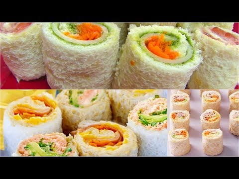 Sandwich Rollups Recipe - Bread Sushi Recipe - Kid's Video Recipes - Perfect Summer Recipe