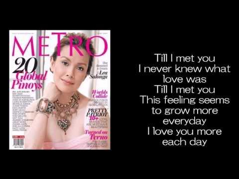 Tekst piosenki Lea Salonga - Till I Met You po polsku