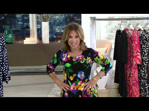 Susan Graver Set Of 2 Printed Brushed Liquid Knit Tops On Qvc