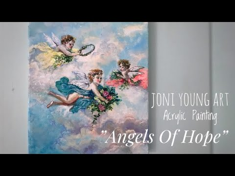 """Angels Of Hope"" ACRYLIC PAINTING 