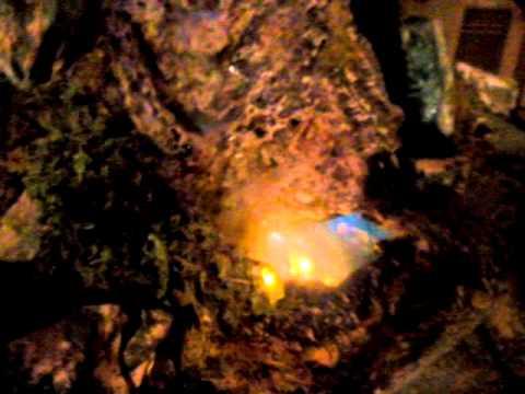 Cascata ,casine illuminate con acqua fai da te EM