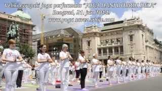 Joga performans 2014, Beograd, Trg republike