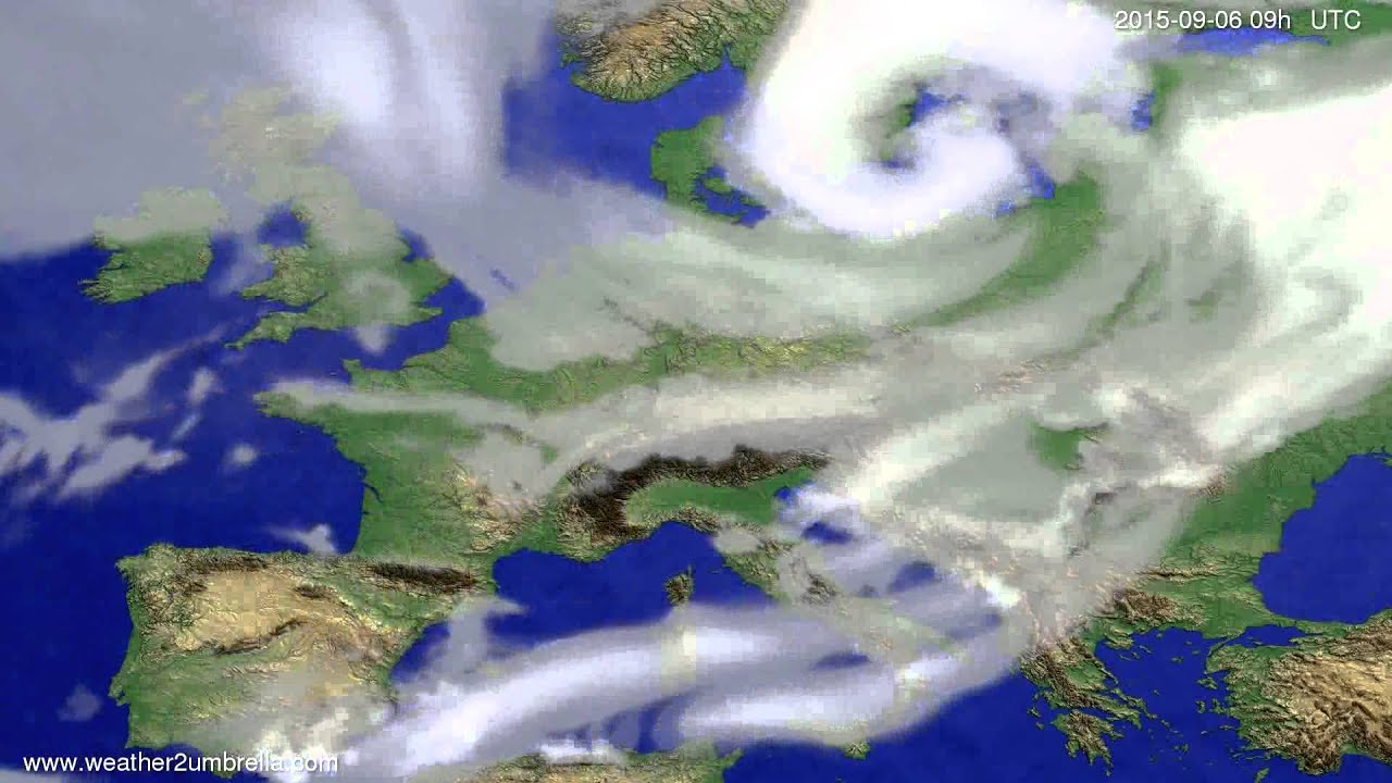 Cloud forecast Europe 2015-09-02