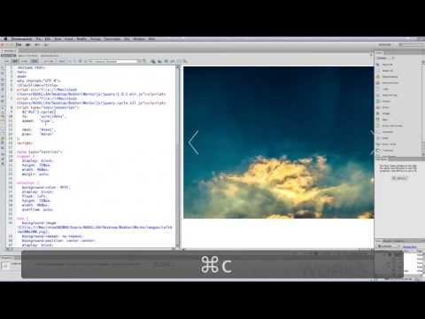 indreamweaver - In This Tutorial, I'm going to show you how to create a beautiful Image Slider or Image Slideshow from scratch in Dreamweaver CS6 using Jquery library, jquer...