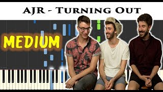AJR - Turning Out | Sheet & Synthesia Piano Tutorial by James Morrison BCN