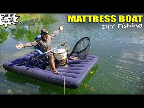 Video AIR MATTRESS Bass Fishing DIY setup | Monster Mike download in MP3, 3GP, MP4, WEBM, AVI, FLV January 2017