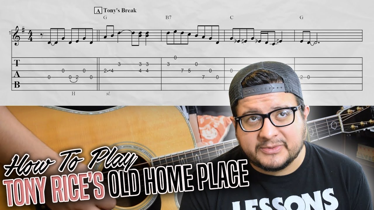 How To Play Tony Rice's Old Home Place – Advanced Bluegrass Guitar Lesson