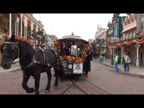 Horse Drawn Streetcar at Disneyland Paris Full POV Ride Main Street U.S.A. to Sleeping Beauty Castle