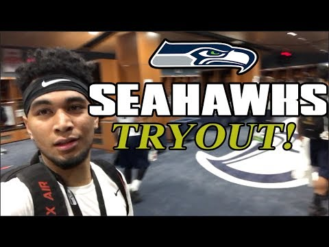 TRYING OUT FOR THE SEAHAWKS! (видео)