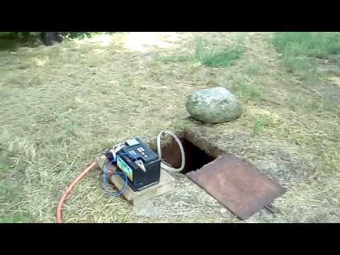 Travaso acqua da cisterna interrata con pompa 12V