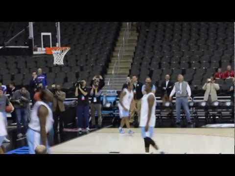 JP Tokoto Dunk Contest - Shoot around at Sprint Center before tomorrow's game against Villanova.