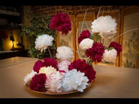 Flores de Papel - Javi nos hace unas flores de papel preciosas, ideal para decoración, centros de mesa, fiestas, etc.. muy facil de hacer y que a todo el mundo le encantará. M...
