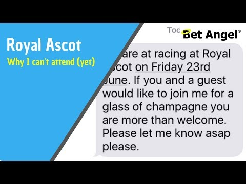 Peter Webb – Why I Can't Attend Royal Ascot (yet)