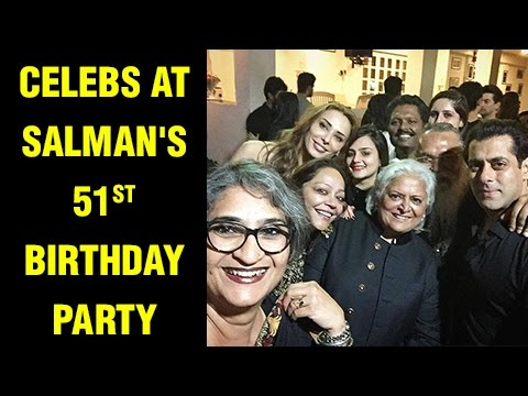 Celebrities At Salman Khan's 51st Birthday Party