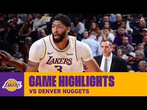 LAKERS vs NUGGETS   FULL GAME HIGHLIGHTS   December 23, 2019