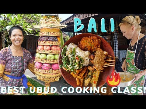 Best Cooking Class In UBUD Bali 🇮🇩 (Real Indonesian Food In Balinese Home & Fresh Market)