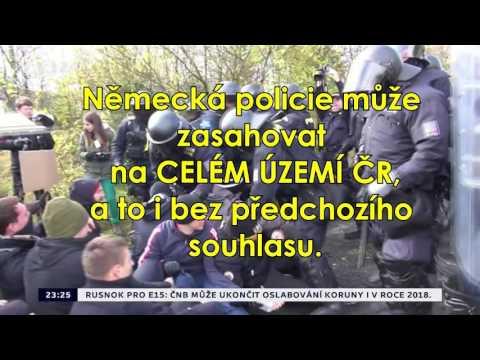 Německá policie může rozhánět demonstrace na celém území ČR