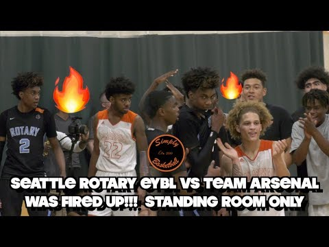Seattle Rotary Vs Team Arsenal | Gets HEATED In Front Of Hyped Crowd! Ft. J.McDaniels & I. Hawthorne