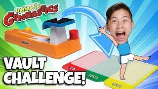 FANTASTIC GYMNASTICS VAULT CHALLENGE!!! Loser Gets Messy Mystery Surprise!